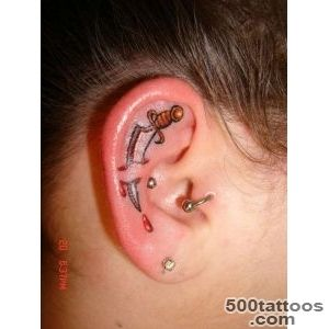 25+ Amazing Pictures of Ear Tattoo Designs  Tattooton_43