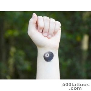 Temporary Tattoo Eight Ball 8 Ball Magic by SymbolicImports_8