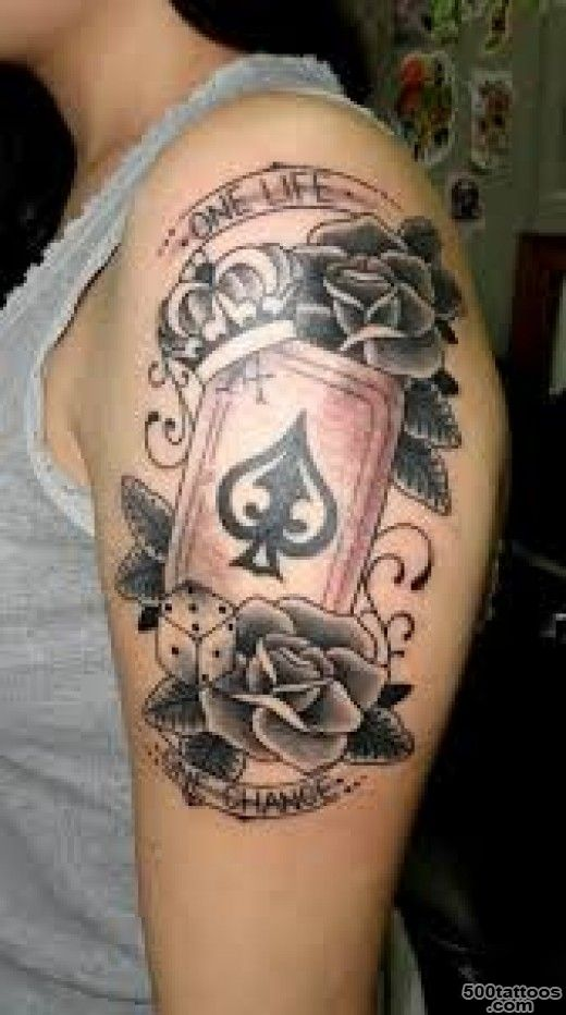 Ace of Spades Tattoo Designs, Ideas, and Meanings_21