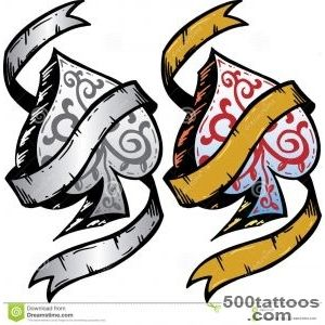 Ace Of Spades Tattoo Style Vector Illustration Stock Photos _50