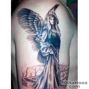 60 Holy Angel Tattoo Designs  Art and Design_36