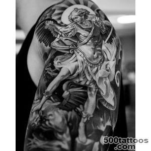 100 Guardian Angel Tattoos For Men   Spiritual Ink Designs_31