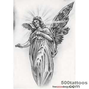 Angel Tattoos  Angel Wings, Guardian Angel and St Michael Designs_7
