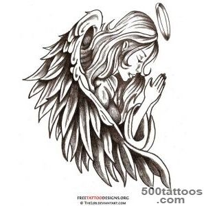 Angel Tattoos  Angel Wings, Guardian Angel and St Michael Designs_8