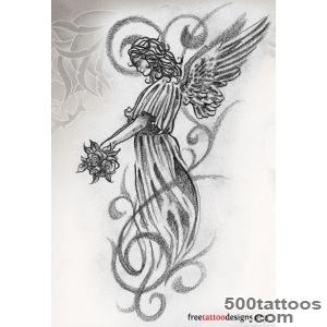 angel tattoo designs ideas meanings images. Black Bedroom Furniture Sets. Home Design Ideas