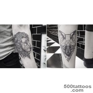 Artistic and Geometric Animals Tattoo Design by Nouvelle Rita _26