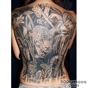 Forest And Animals Tattoo On Back_41