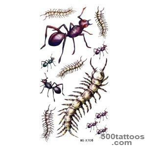 Ant Scolopendra Temporary Waterproof Insect Tattoo Sticker   Darcy_23