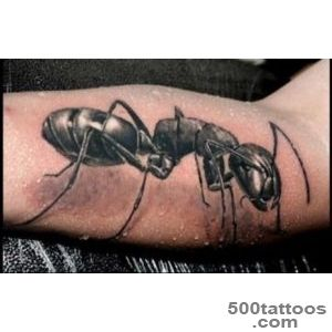 Black Ink Ant Tattoo Image_7