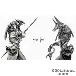 20+ Beautiful Anubis And Horus Tattoos_2