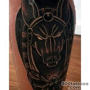 100 Anubis Tattoo Designs For Men   Egyptian Canine Ink Ideas_21