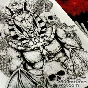 Anubis Back Tattoo Desing #tattodesign #anubis #Tattoo #inkdraw _16