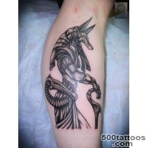 Anubis Tattoo On Leg by Abyss_12