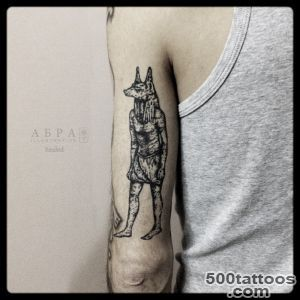 Blackwork Anubis tattoo by Abra Black  Best Tattoo Ideas Gallery_23
