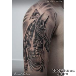 DSB Tattoo on Twitter Anubis #tattoo #tatuaje #realista #realism _11