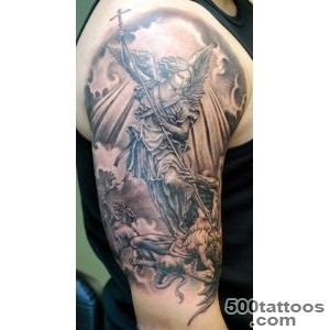 32+ Amazing Half Sleeve Archangel Tattoos_29