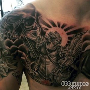75 St Michael Tattoo Designs For Men   Archangel And Prince_36