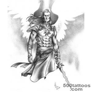 DeviantArt More Like archangel tattoo by zzzisch_33