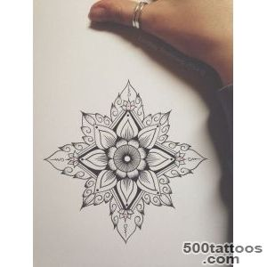 geometric flower art tattoo  iiink  Pinterest  Geometric Flower _12