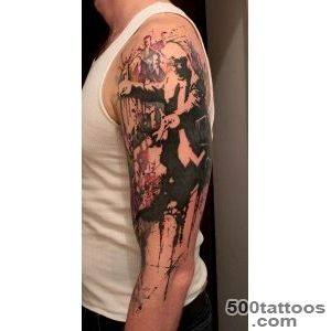 Thrilling Tattoos inspired by Streetart Stencils amp Watercolor Art _16