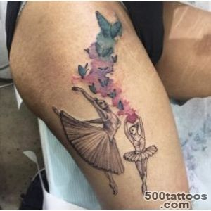 40 Wonderful Ballerina amp Dancer Tattoo Designs   TattooBlend_38