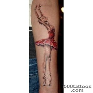 Ballerina tattoo  We Heart It  tattoo and ballerina_4