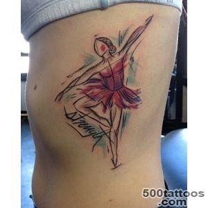 Top Abstract Ballerina Tattoo Images for Pinterest Tattoos_21