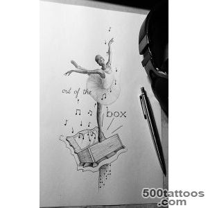 Top Ballerina Drawings Images for Pinterest Tattoos_37