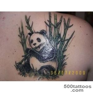 69+ Panda Bamboo Tattoos_45