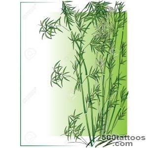 Bamboo In The Asian Style In Green Frame Royalty Free Cliparts _23