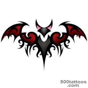 Bat tattoo design, idea, image