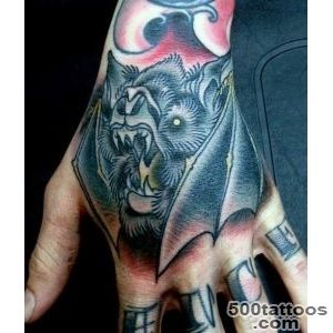 50 Bat Tattoo Designs For Men   Manly Nocturnal Design Ideas_22