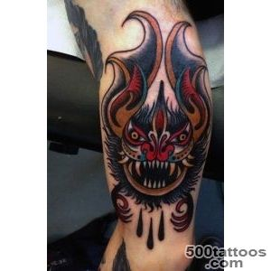 50 Bat Tattoo Designs For Men   Manly Nocturnal Design Ideas_26