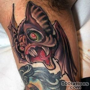 50 Bat Tattoo Designs For Men   Manly Nocturnal Design Ideas_33