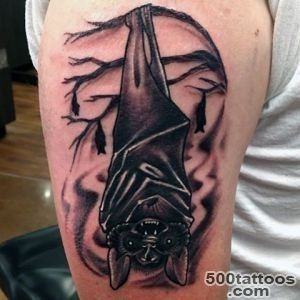 50 Bat Tattoo Designs For Men   Manly Nocturnal Design Ideas_34