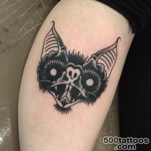 Top American Traditional Bat Tattoo Images for Pinterest Tattoos_50