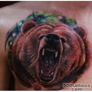 Bear tattoo design, idea, image