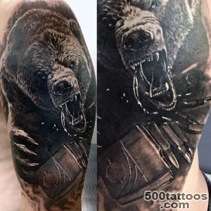 60 Bear Tattoo Designs For Men   Masculine Mauling Machine_15