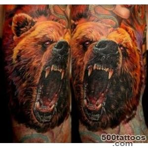 Awesome colorful head of a bear tattoo   Tattooimagesbiz_46