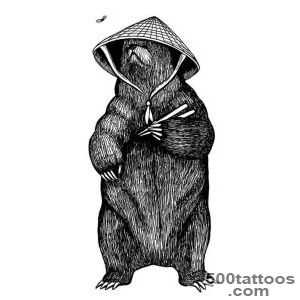Black And White Black Bear Tattoo Design  Tattooshuntercom_31