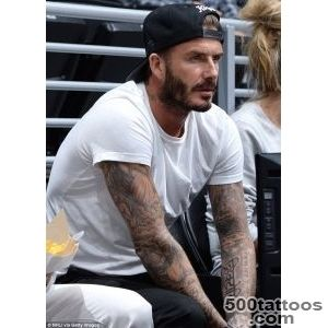 David Beckham#39s wife Victoria debuts his latest tattoo designed by _17