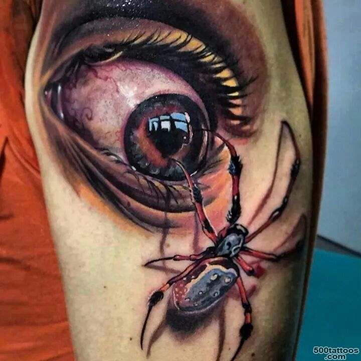 3d realistic eye with beetle tattoo by Antonio Proietti ..._24