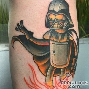 How awesome is this Futurama  Star Wars tattoo   In A Far Away _43