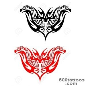 Biker Tattoos With Fire Tribal Flames For Design Royalty Free _36