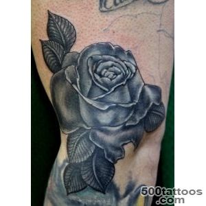 30 Black Rose Tattoo Designs, Images And Picture Ideas_18