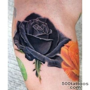 Black Rose realistic tattoo  Best Tattoo Ideas Gallery_5