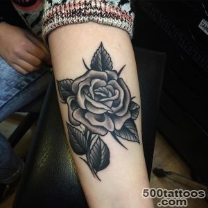 Black Rose Tattoo On Forearm by Samuele Briganti_4