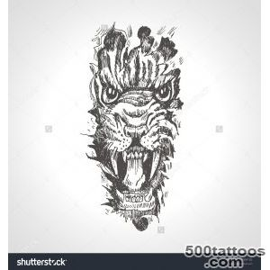 Tiger-Anger-Black-Tattoo-Vector-Illustration-Of-A-Snarling-Tiger-_37jpg