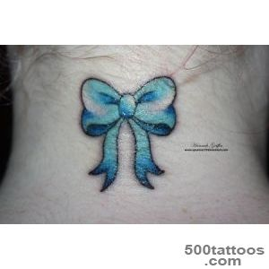 Amazing Blue Bow Tattoo Design By Hannah Griffin_13