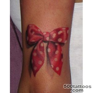 Pin Red Ink Bow Tattoo On Girl Upperback on Pinterest_50